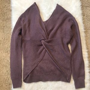 Purple Knotted Reversible Sweater